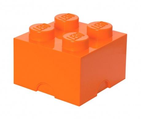 Krabica s vekom Lego Square Four Orange