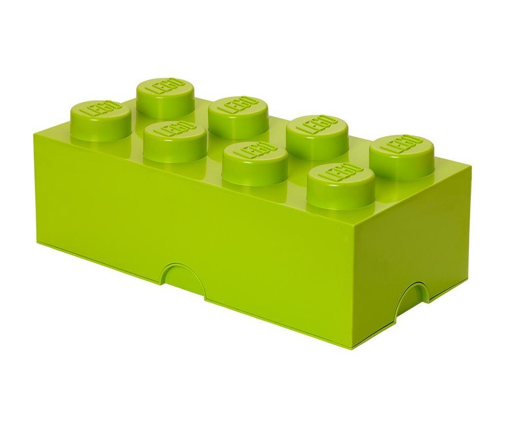 Škatla s pokrovom Lego Rectangular Extra Light Green