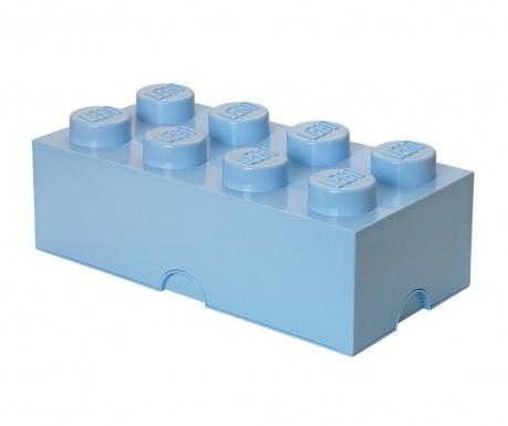 Krabica s vekom Lego Rectangular Pale Blue