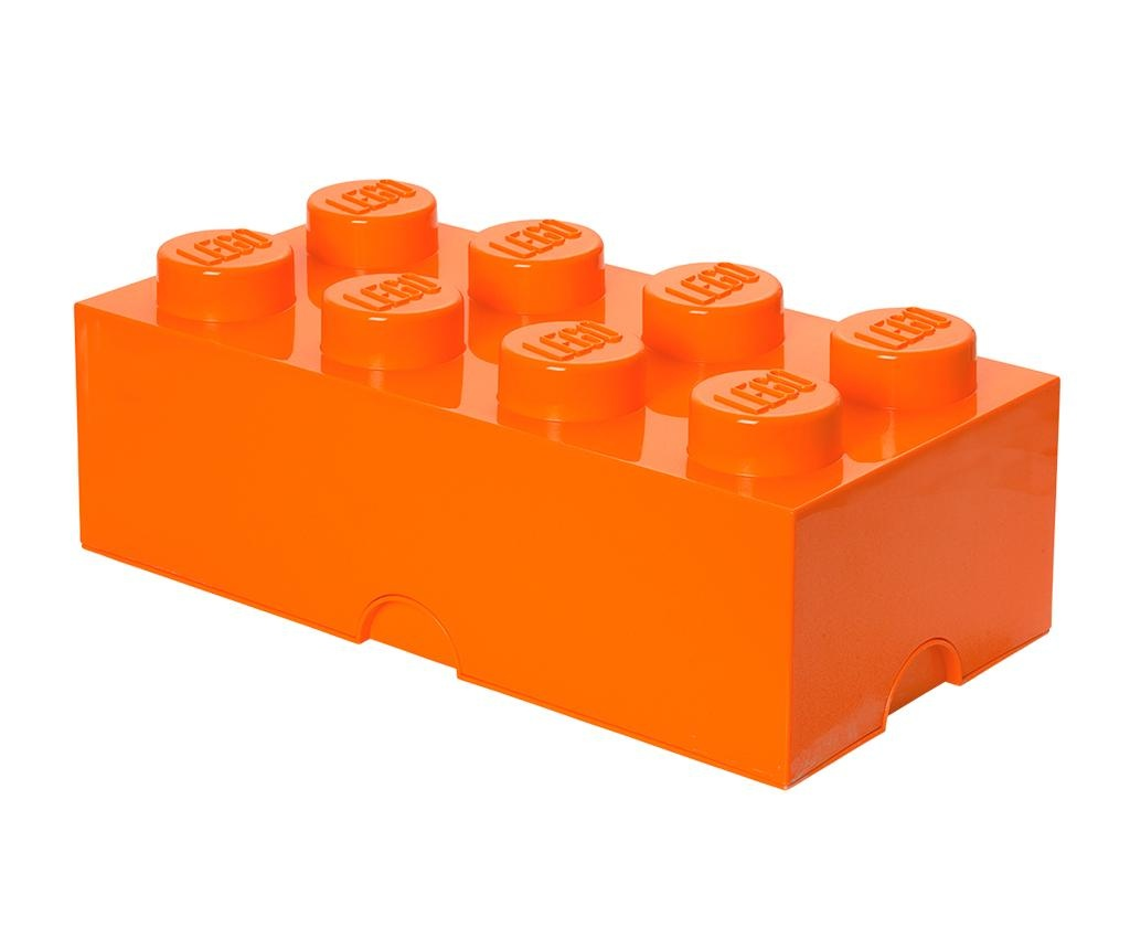 Škatla s pokrovom Lego Rectangular Extra Orange