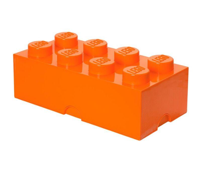 Cutie cu capac Lego Rectangular Extra Orange