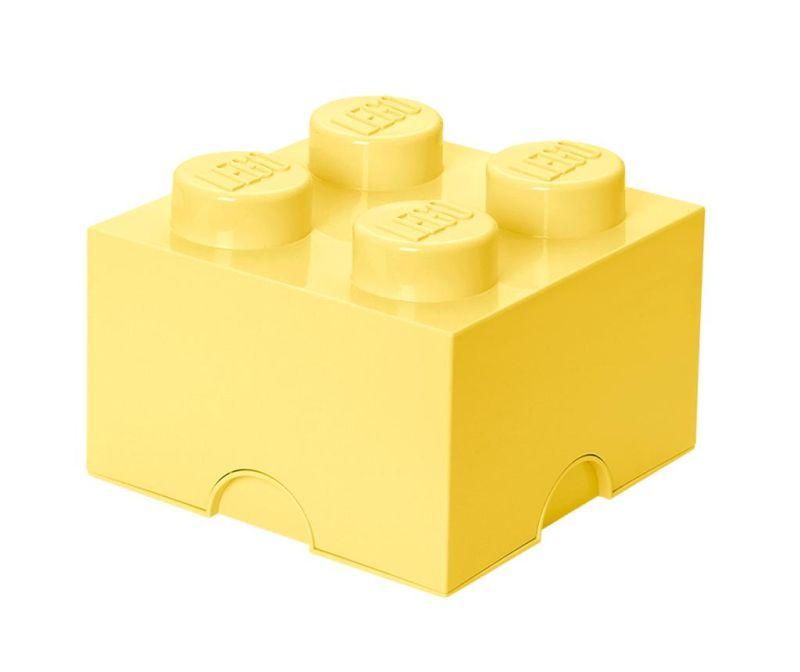 Cutie cu capac Lego Square Four Light Yellow