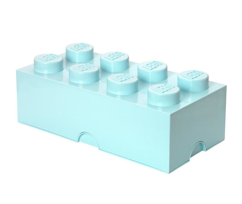 Cutie cu capac Lego Rectangular Extra Light Blue