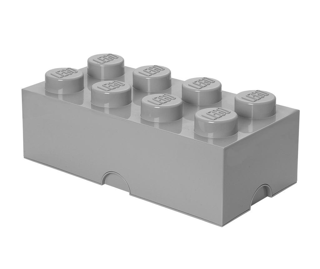 Škatla s pokrovom Lego Rectangular Extra Light Grey