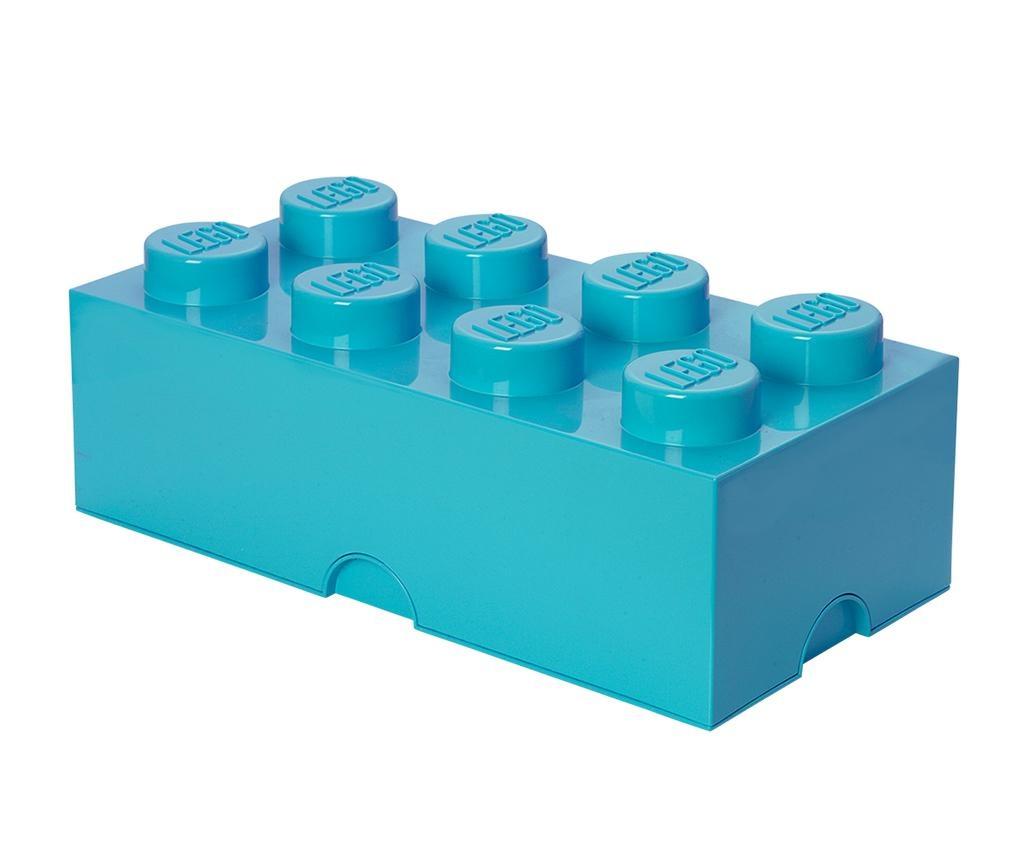 Škatla s pokrovom Lego Rectangular Extra Turquoise