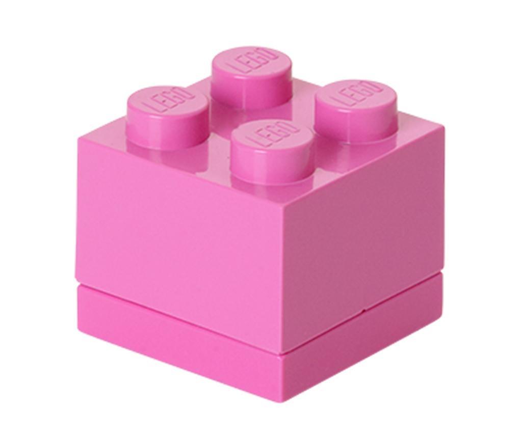 Kutija s poklopcem Lego Mini Square Bright Pink