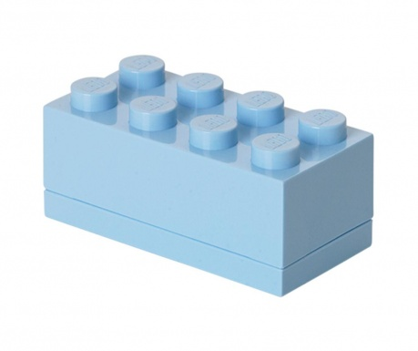 Lego Mini Rectangular Light Blue Doboz fedővel
