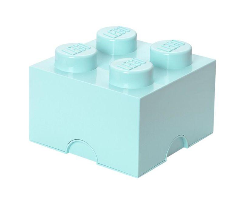 Cutie cu capac Lego Square Four Light Blue