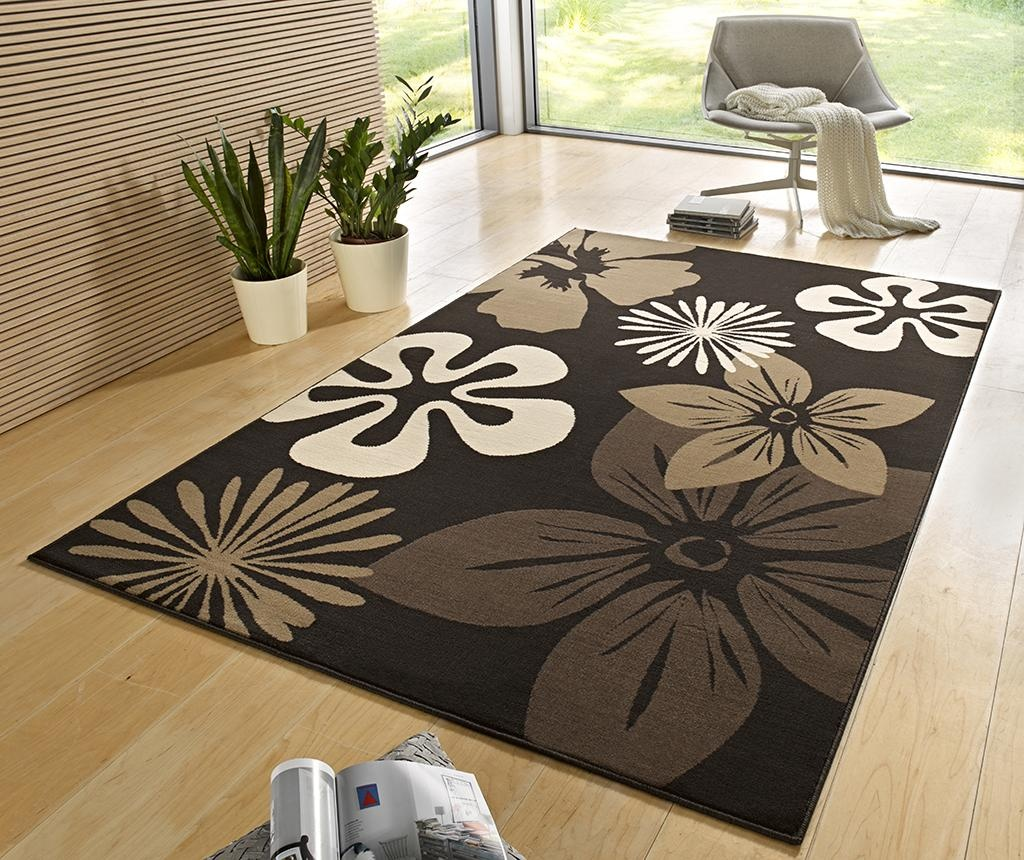Covor Flowers Brown 160x230 cm