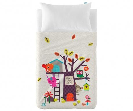 Set plahta za krevetić i jastučnica Satin Sweet Home Extra Uni