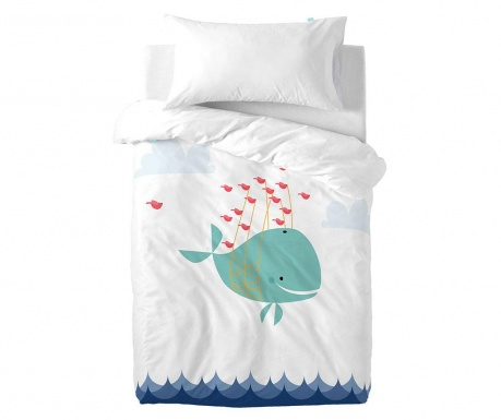 Posteljina za krevetić Satin Whale Ride Uni