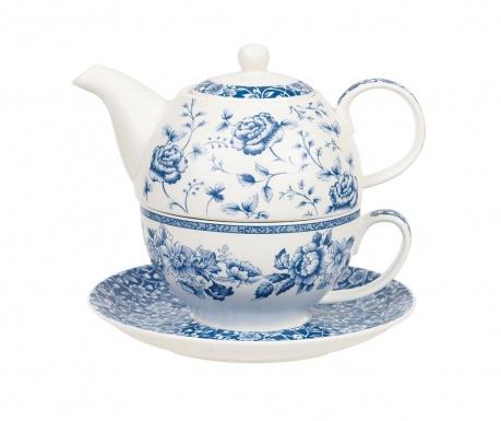 Zestaw czajniczek, filiżanka i talerzyk Blue Story