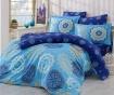 Lenjerie de pat King Satin  Supreme Ottoman Blue