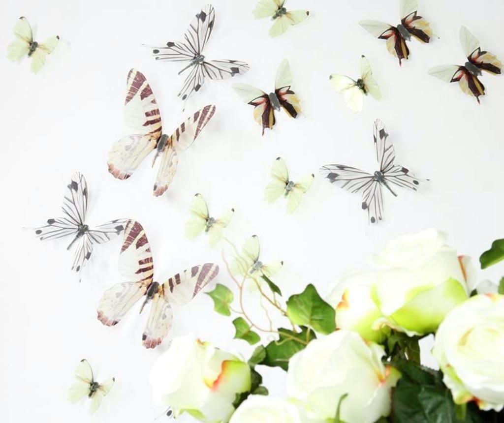 Set 18 3D nalepk Wild Butterfly