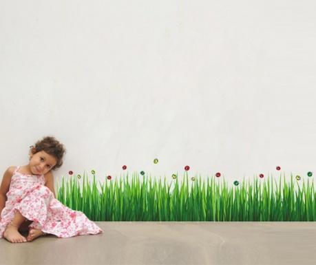 Стикер Colourful Ladybug Grass