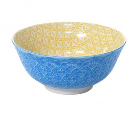 Quatrefoil Blue & Yellow Mély tál 500 ml