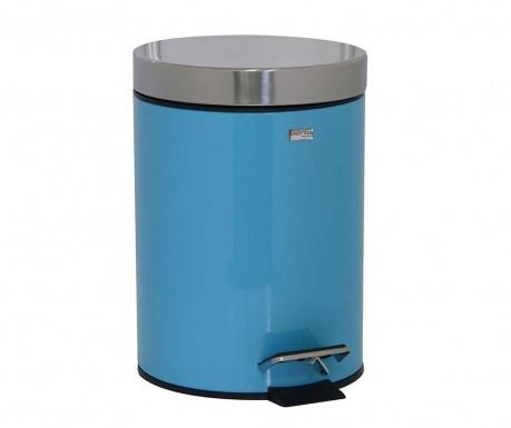 Κάδος απορριμμάτων με καπάκι και πεντάλ Messina Turquoise 3 L