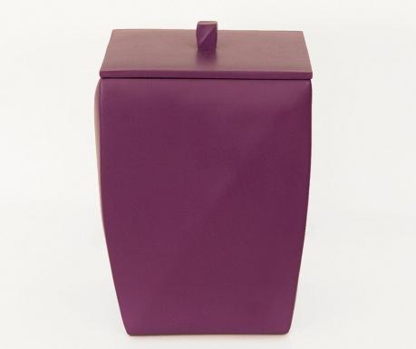 Odpadkový kôš s vekom Karya Purple 5 L