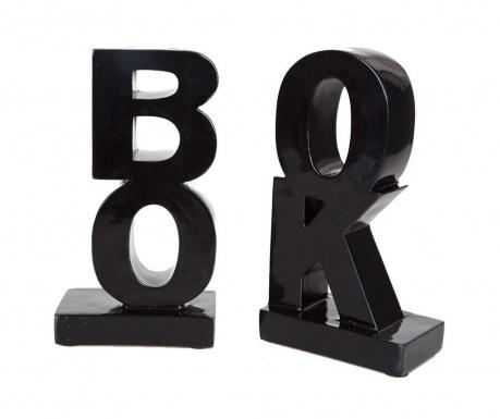 Book Black 2 db Könyvtámasz