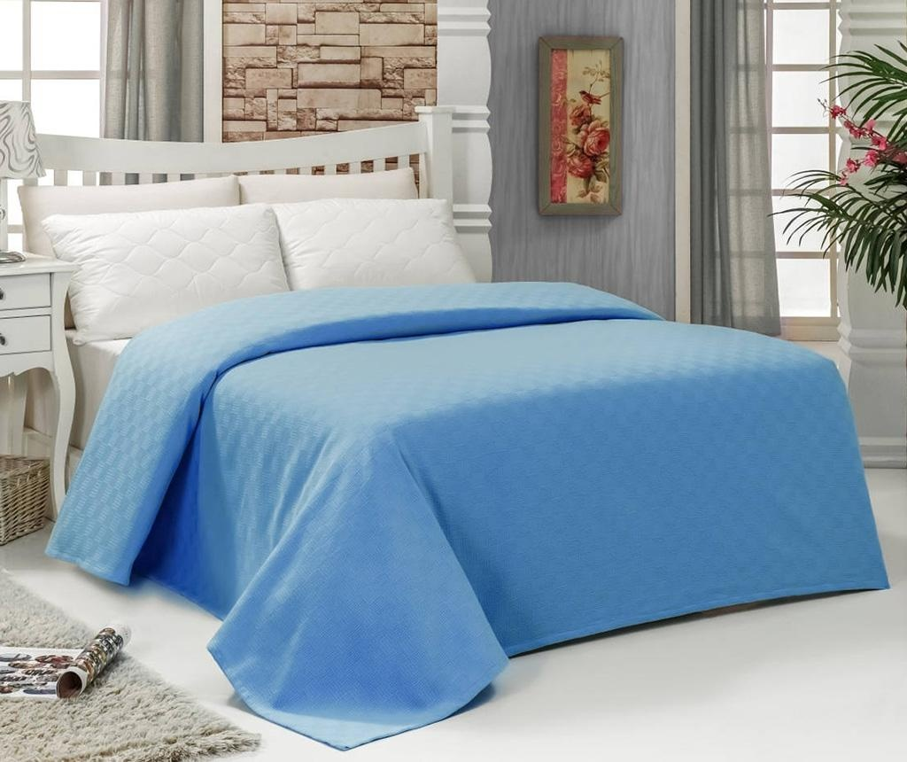 Prekrivač Pique Esil Blue 200x240 cm