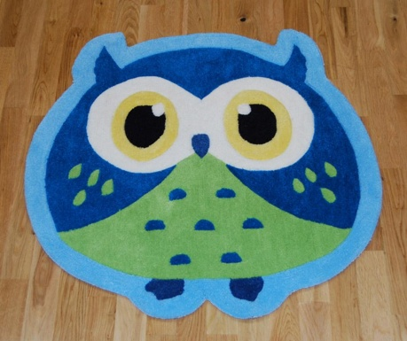 Tepih Owl Blue 80x80 cm