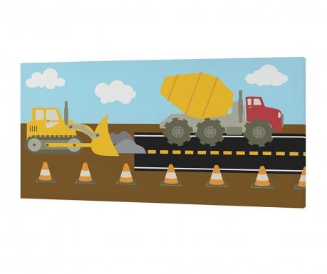 Slika Construction Autoband 27x54 cm