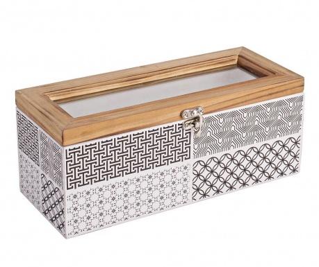 Kutija s poklopcem Basso Rectangular Black White