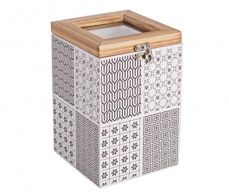 Kutija s  poklopcem Basso Tall Black White