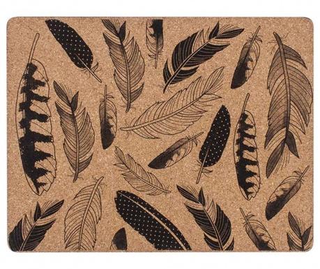 Feathers 4 db Tányéralátét 26x33.5 cm