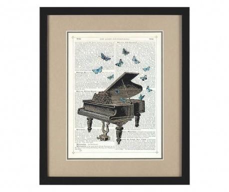 Tablou Piano Butterflies 36x43 cm
