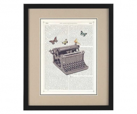 Tablou Writer Butterflies 36x43 cm