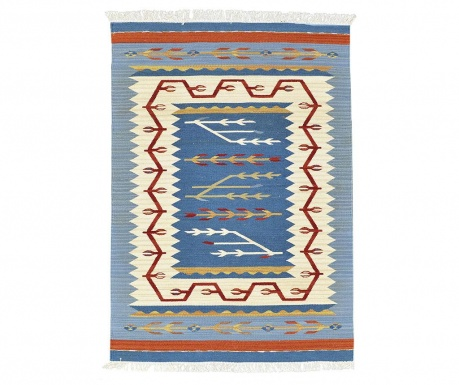 Tepih Kilim Blue and Red 75x125 cm