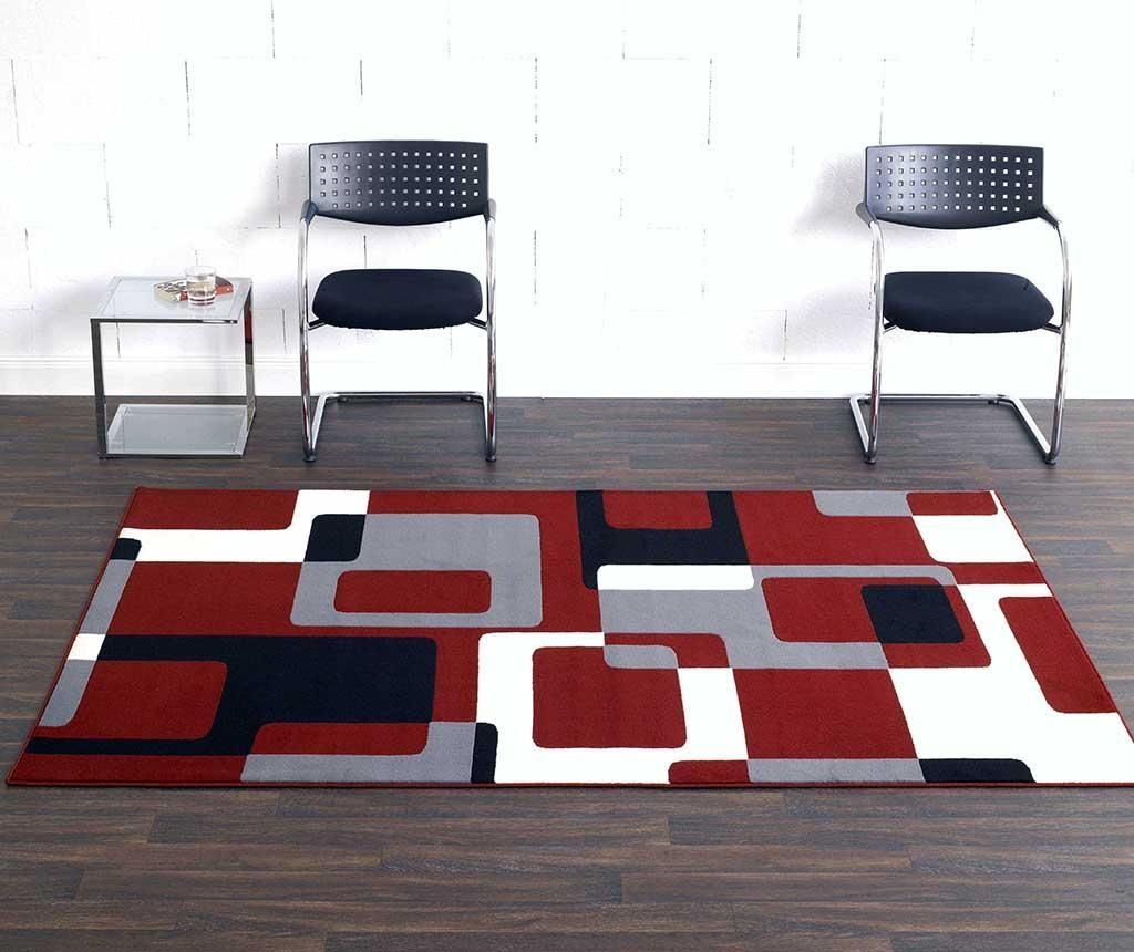 Covor Retro Red, Grey, Black 80x150 cm