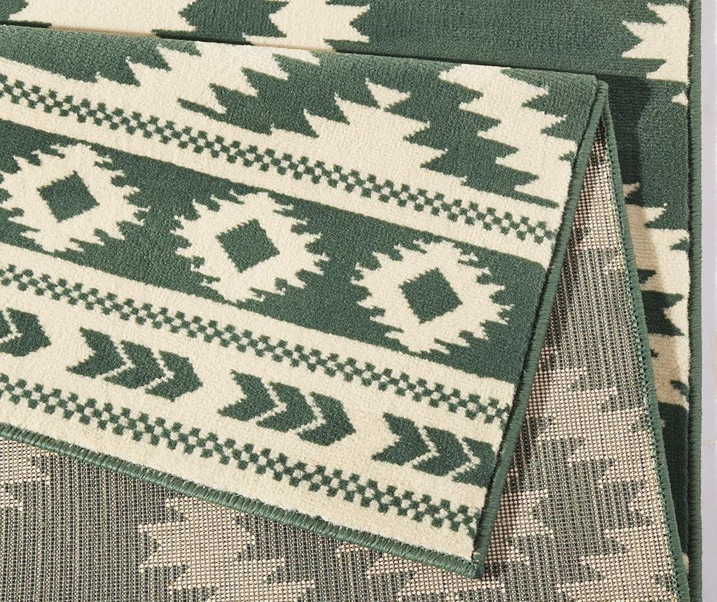 Covor Ethno Green and Cream 160x230 cm