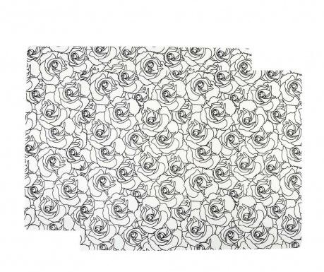 Set 2 pogrinjkov Black Rose 30x38 cm