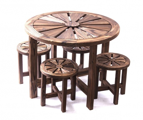Zestaw stół i 4 krzesła Rotonda
