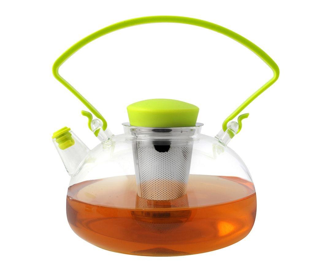 Ceainic cu infuzor Amo Green Handle 1 L