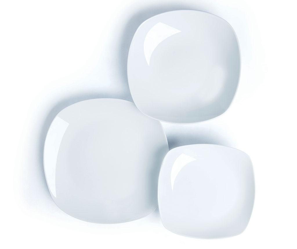 Set de masa 18 piese Square White