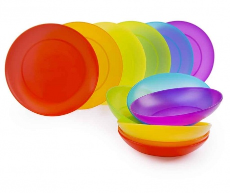 Rainbow 12 darabos Étkészlet