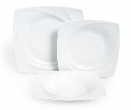 Osiemnastoczęściowa zastawa stołowa Celebration White