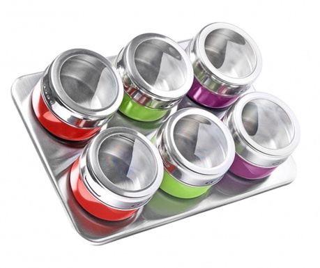 Hemet Color 6 db Fűszertároló és tartó