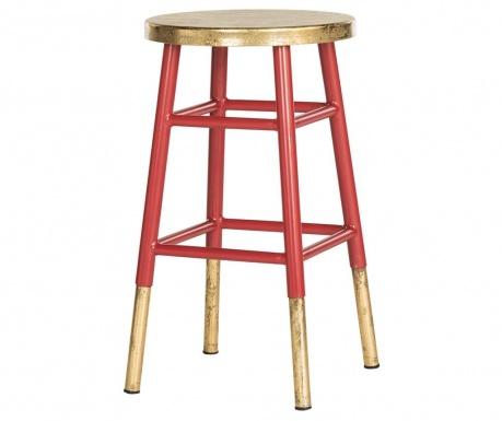Krzesło barowe Mirabelle Red Gold