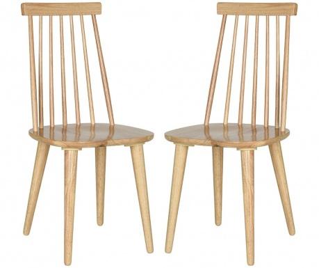 Zestaw 2 krzeseł Jerry Beige