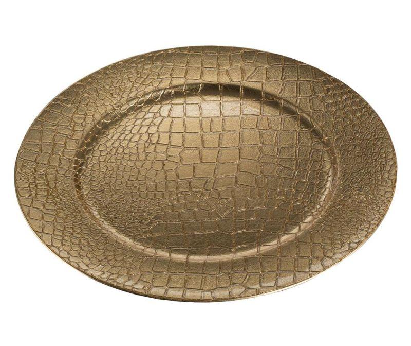 Dekorativni krožnik Crocodile Yellow Gold