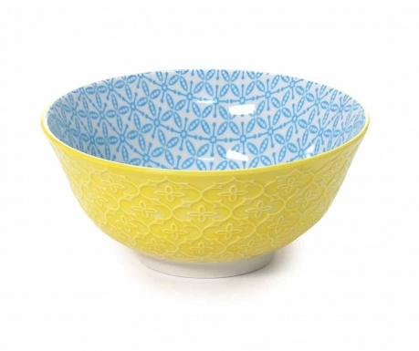 Quatrefoil Yellow & Blue Mély tál 500 ml