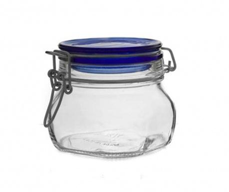 Słoik z hermetyczną pokrywką Fido Blue 500 ml