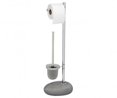 Βάση ρολού τουαλέτας και βούρτσα τουαλέτας Pebble Grey