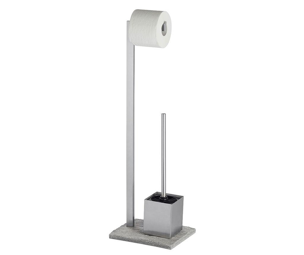 Поставка с четка за тоалетна чиния и поставка за тоалетна хартия Granite Look