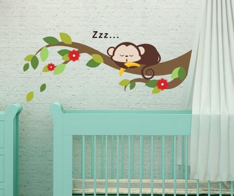 Стикер Sleeping Monkey on Branch
