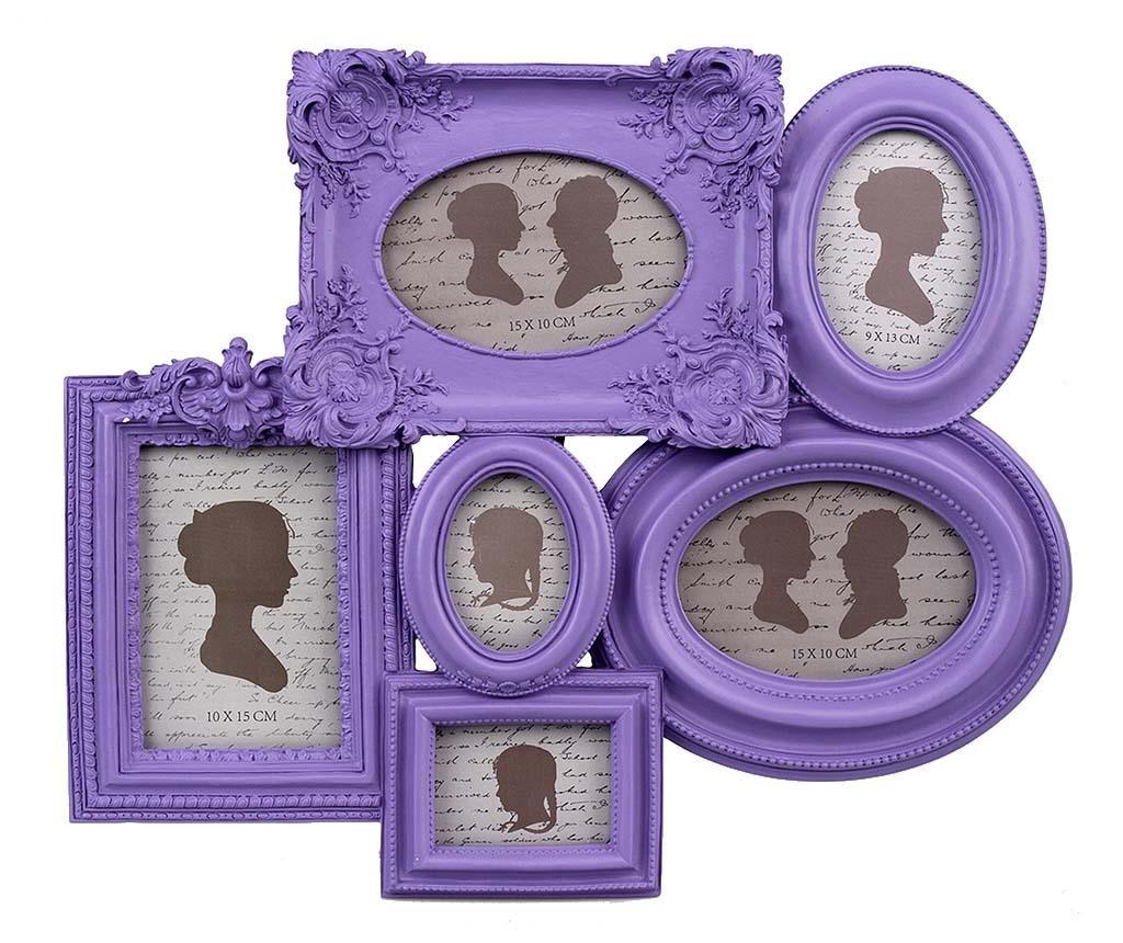 Rám na 6 fotografií Purple Har